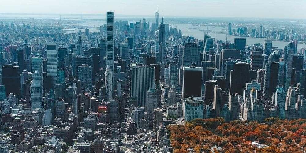 Nueva York durante el otoño en octubre.