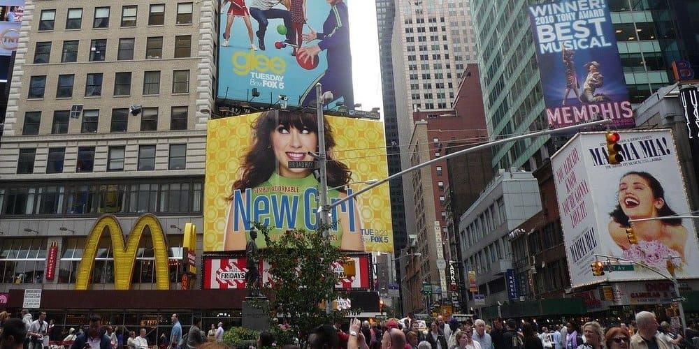 Vista de una de las zonas de Times Square en Nueva York