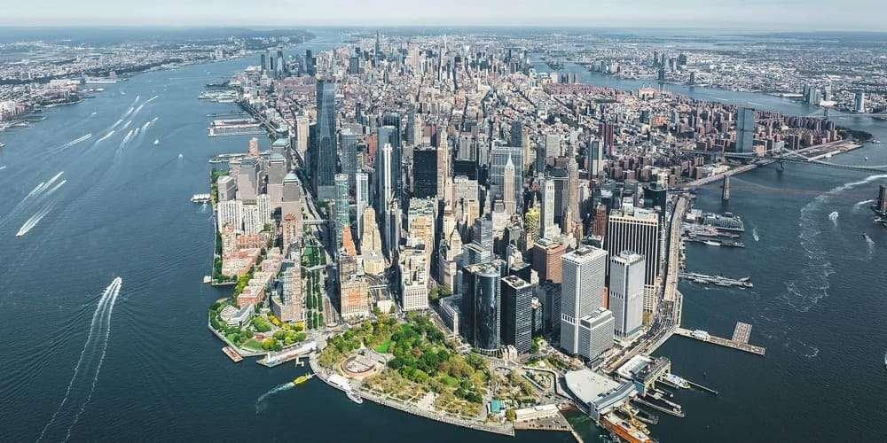Panorámica aérea de Manhattan.