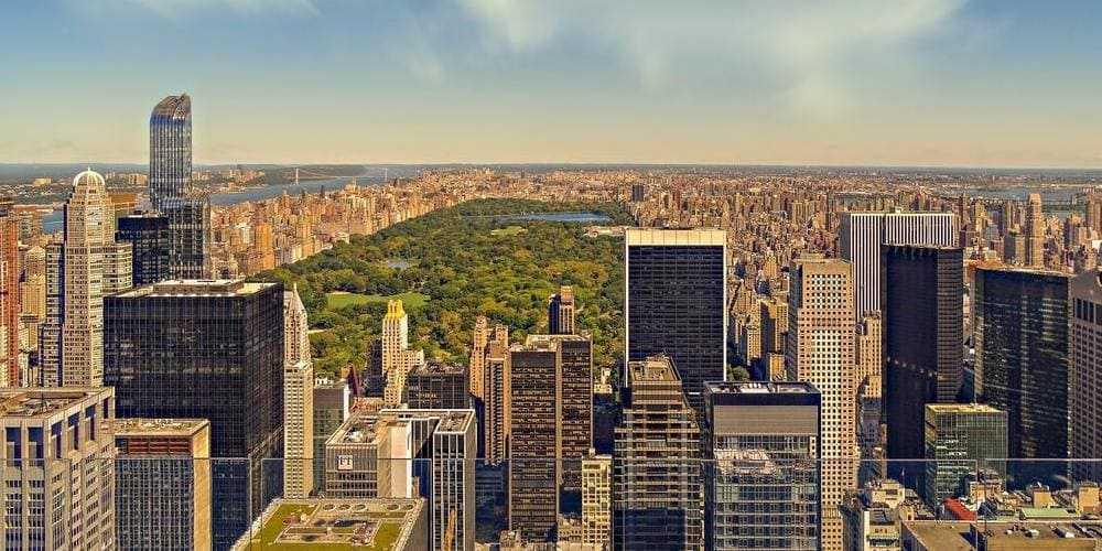 Vista de Central Park desde el aire.