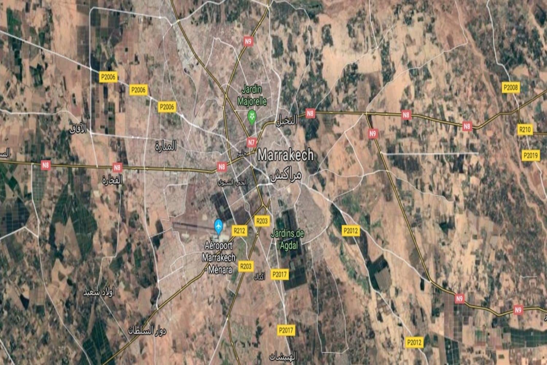 Distancia aeropuerto Marrakech Menara a la Medina