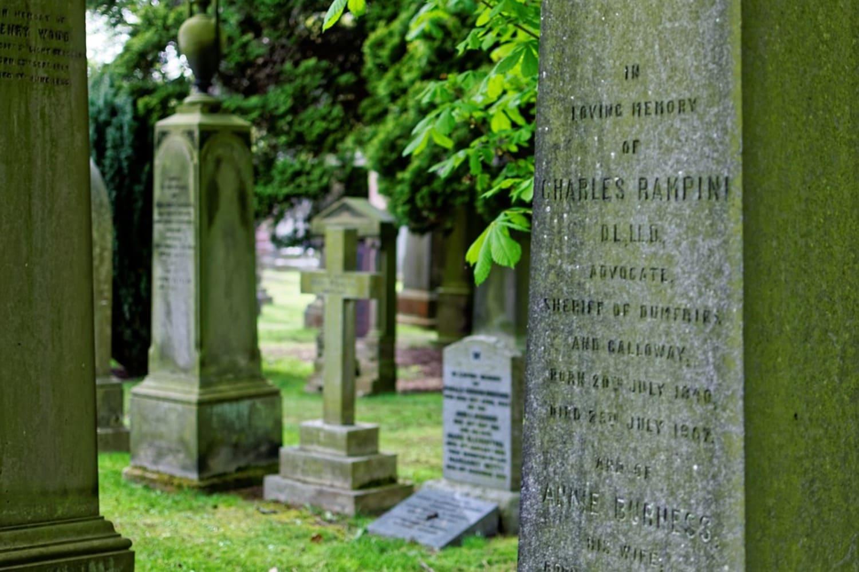 Tumbas en el cementerio de Edimburgo