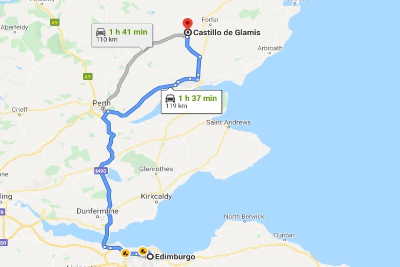 Cómo llegar desde Edimburgo al Castillo de Glamis
