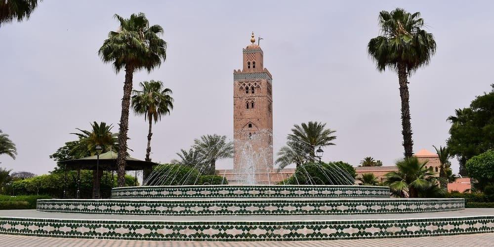 Mezquita Koutoubia para visitar en tu viaje a Marrakech de fin de semana
