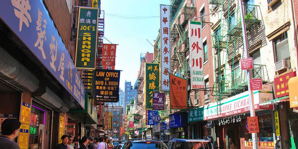 Barrio de Chinatown en Lower Manhattan