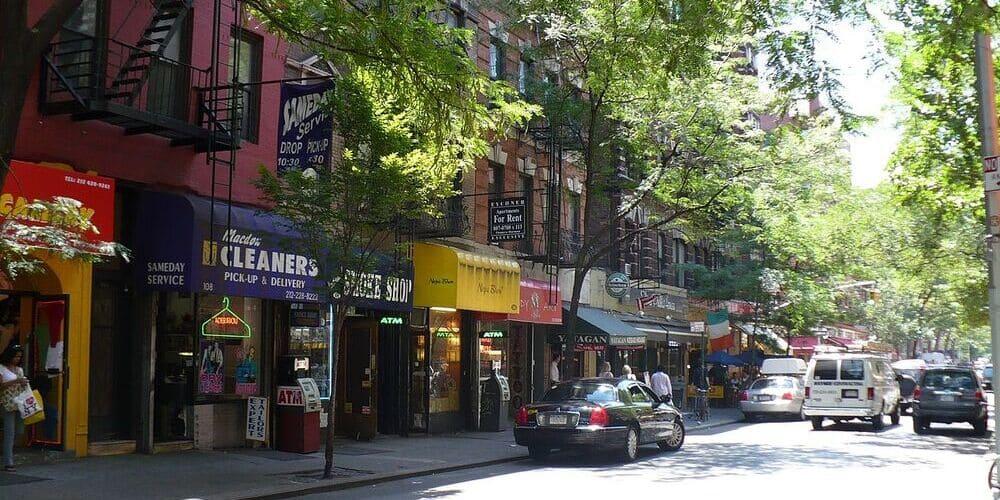 Zona del bajo Manhattan conocida comoGreenwich Village
