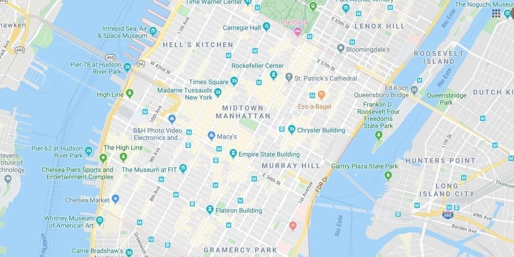 Midtown Manhattan durante la ruta por Nueva York en 4 días