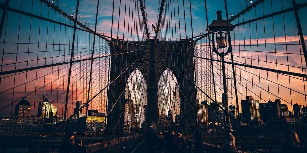 Puente de Brooklyn durante el recorrido en 4 días por Nueva York