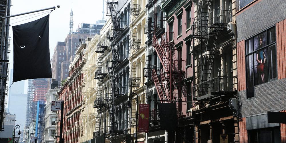 Vista de los edificios del barrio de Soho durante el viaje a Nueva York en 4 días