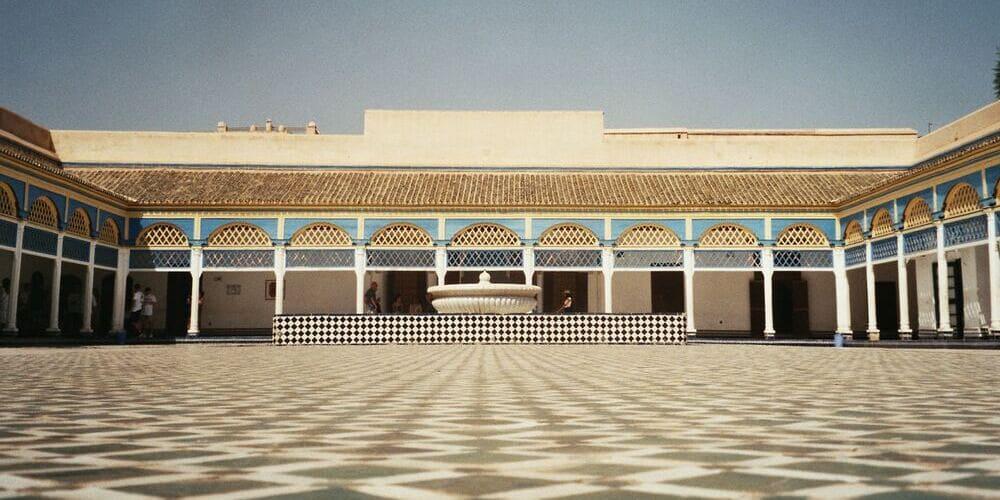 Patio de Honor del Palacio de Bahía de Marrakech