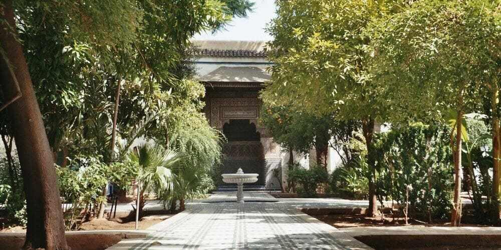 Patio de recreo del Palacio de Bahía de Marrakech