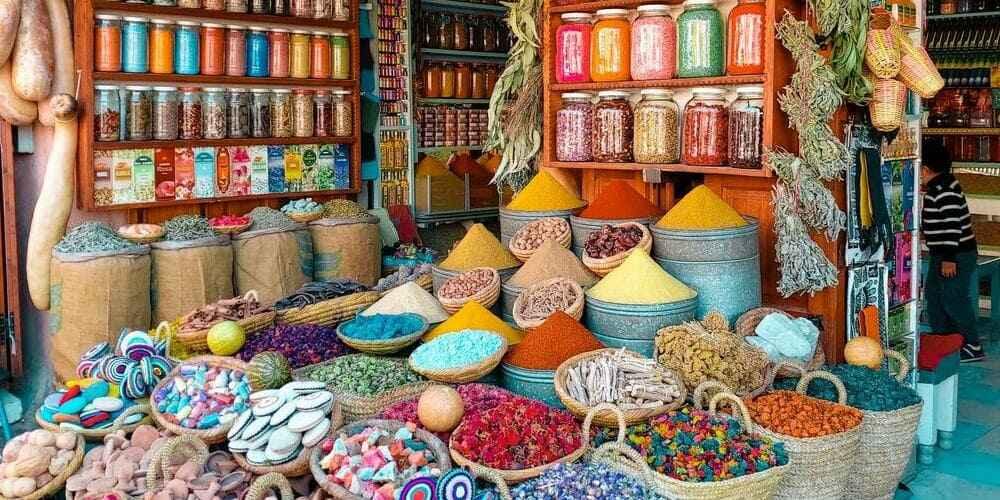 Puesto de un Mercado de Marrakech.