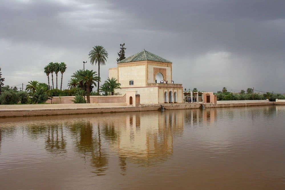 Paisaje de la ciudad de Marrakech