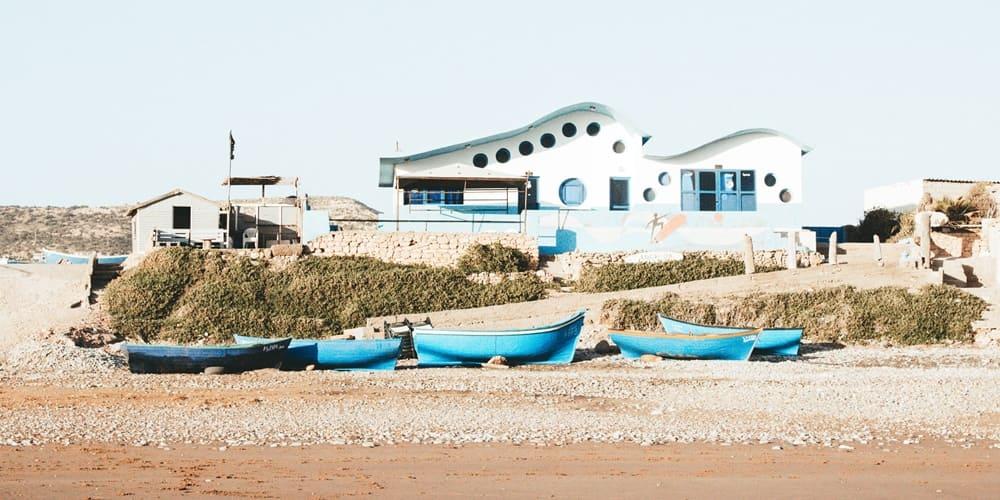 Zona portuaria del pueblo de Oued Laou