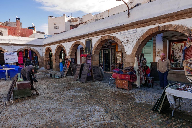 Uno de los mercados de Essaouira
