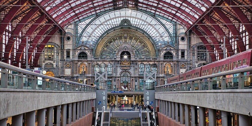 Estación de tren de Bélgica