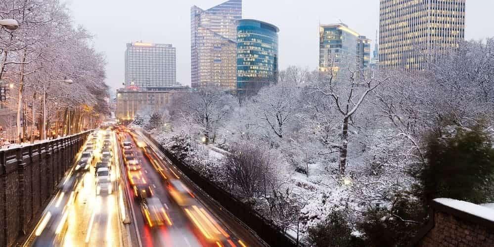 temperatura en invierno en Bruselas