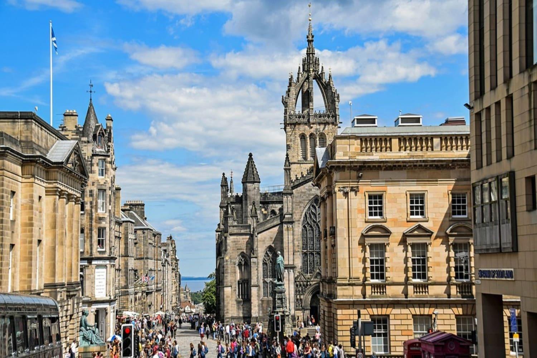 La cúpula de la Catedral, en la Ciudad Vieja de Edimburgo