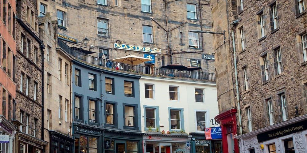 Calle Victoria en Edimburgo