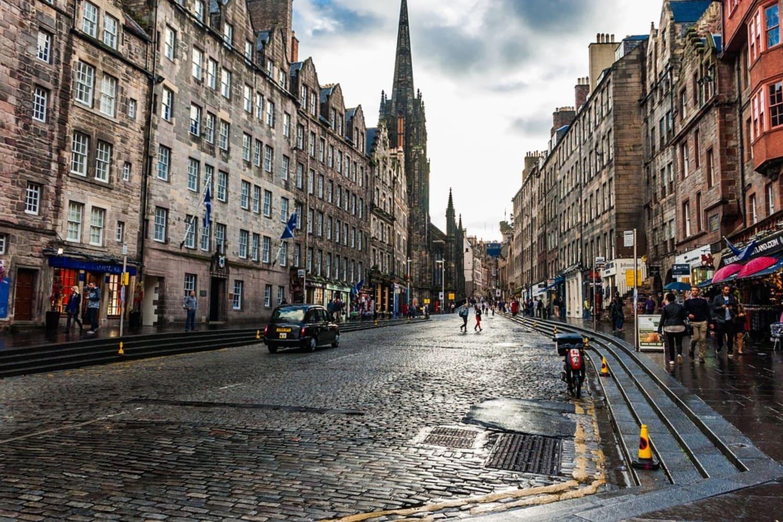 Edimburgo con niños un día de lluvia
