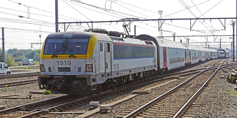 Imagen de tren en Bélgica