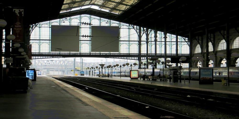 Estación de tren en parís
