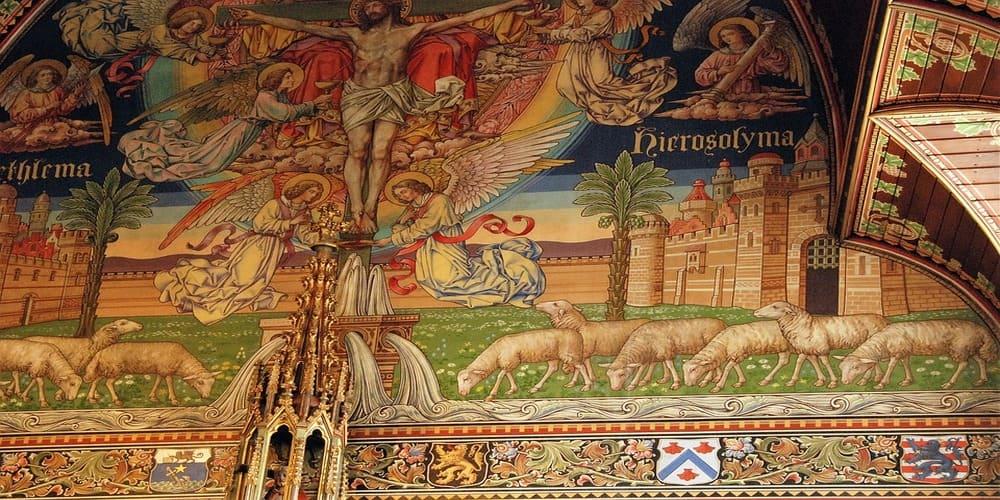 Decoración del interior de la basílica