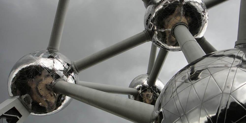 Atomium, el monumento en forma de átomo de Bruselas.