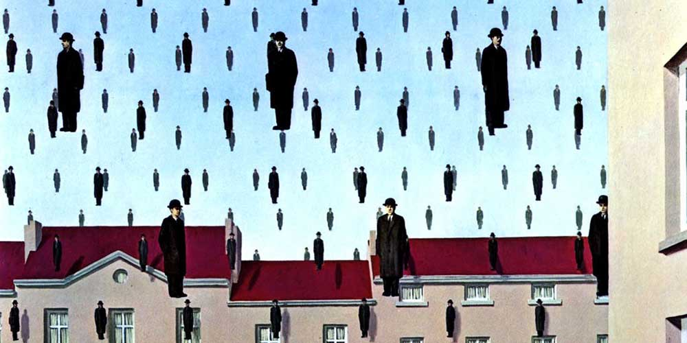Visita al Museo Magritte. Nombre del cuadro: Goloconda.