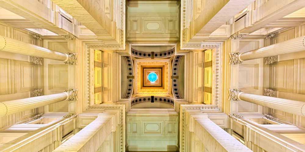 Sitios que ver en Bruselas en 4 días: Interior del Palacio de Justicia.