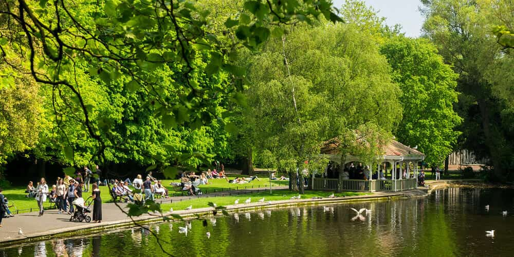 St Stephen's Green Park - imprescindible de la capital de Irlanda