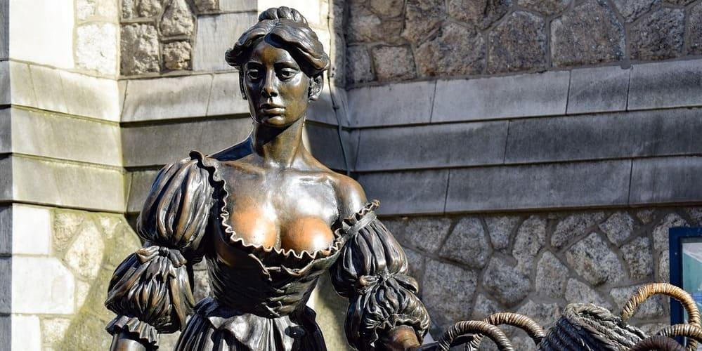 Estatua de Molly Malone, un punto de interés de la capital irlandesa