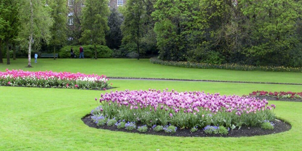 Parque de Merrion Square de Dublín, uno de los lugares que hay que ver en Dublín en 4 días