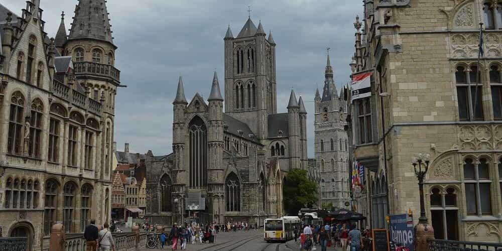 La catedral de San Bavon en Gante