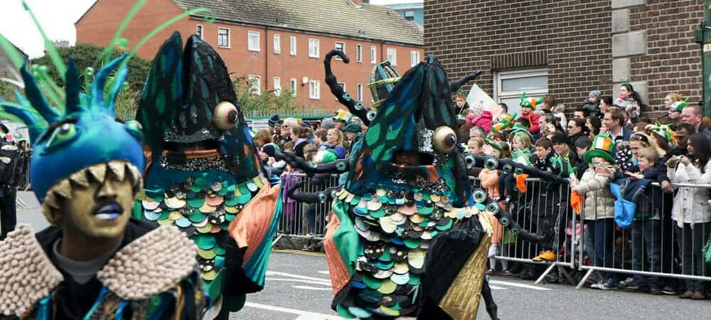 Desfile de st patrick's day en Dublín