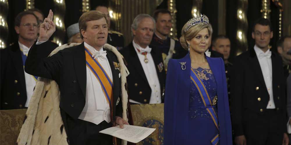 Fotografía de Rey Willem-Alexander, junto a la Reina consorte Máxima de los Países Bajos.