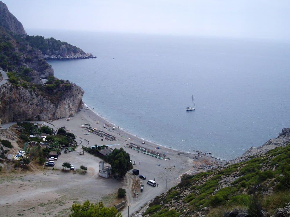 Playa de Canatrrijan en Almueñcar