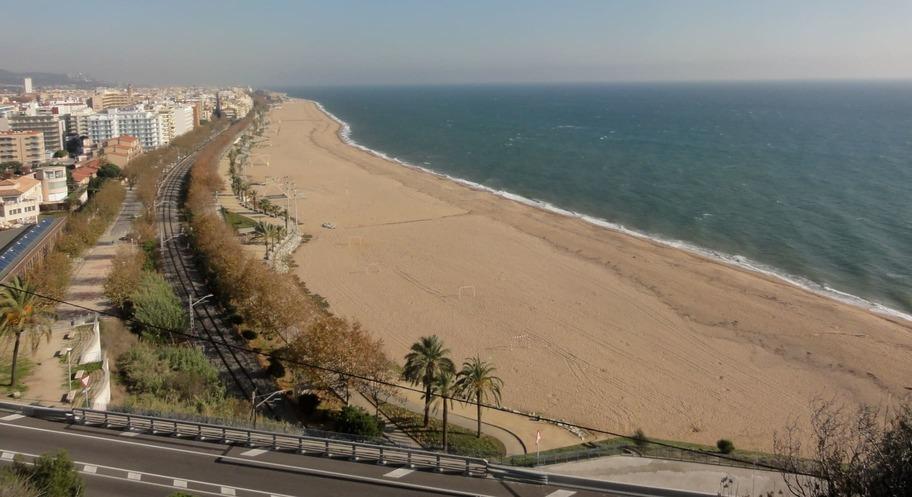 Playa del Parque Garbí en el Delta del Ebro