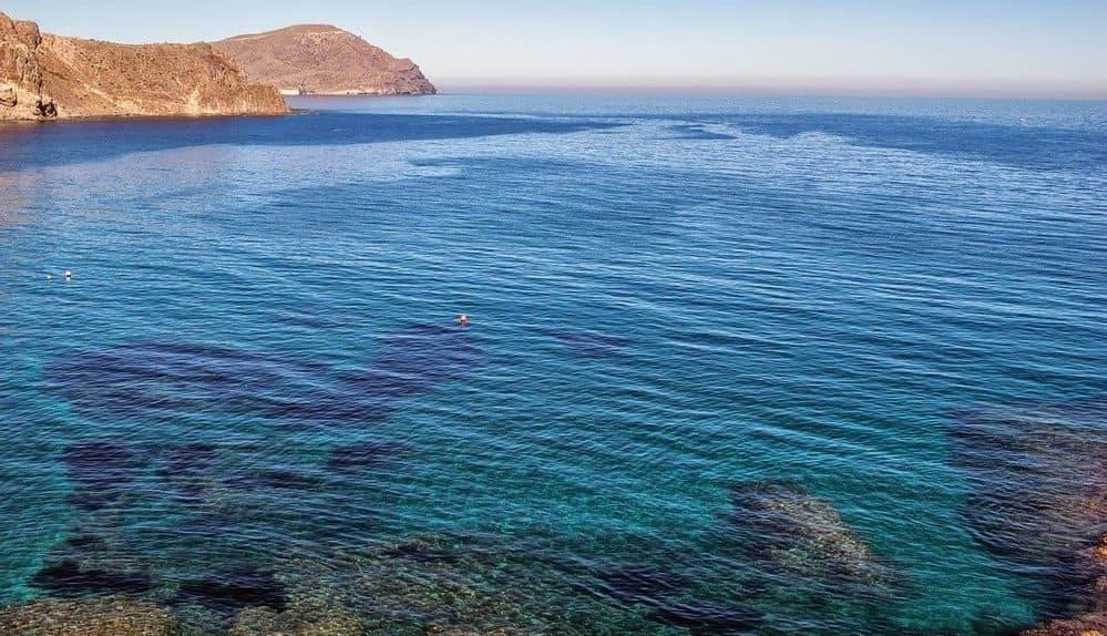 Mar en calma en Almería