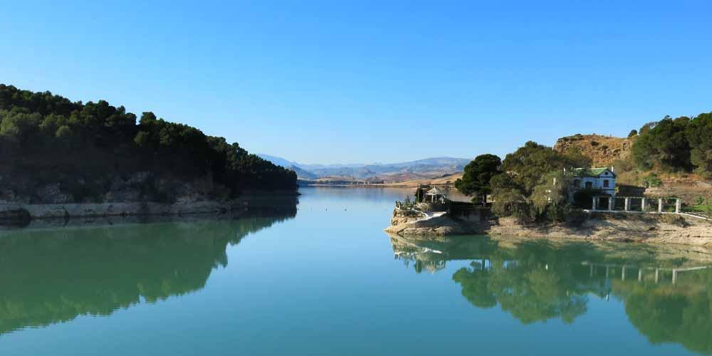 El embalse Tajo de la Encantada en la localidad de El Chorro.
