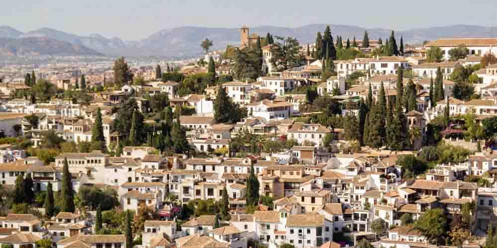 El barrio de Albaicín en Granada.