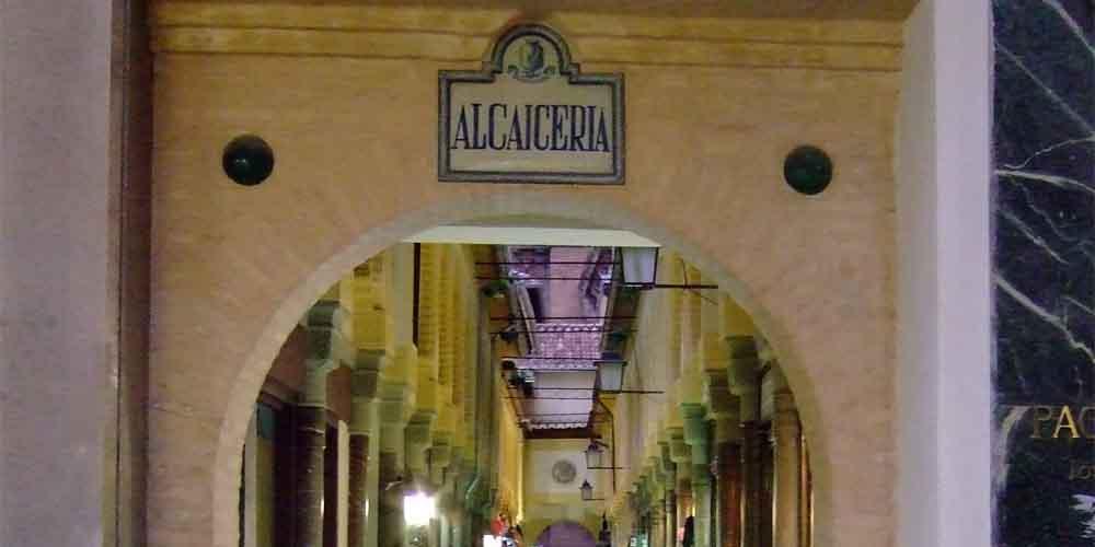 Mercado de la Alcaicería en el barrio de Albaicín para ver gratis en Granada,