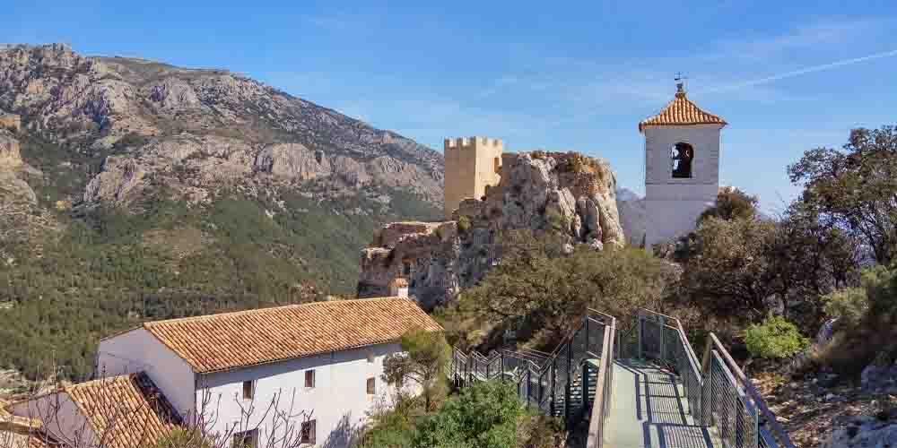 Municipio de Guadalest en Alicante.