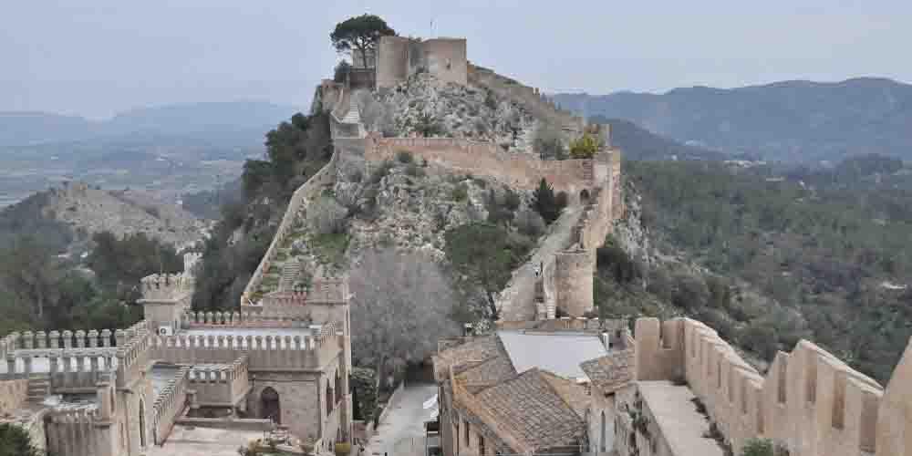 Muralla de Xàtiva en Valencia.