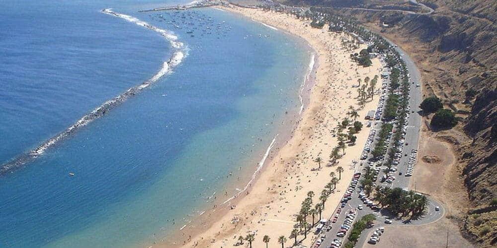 Playa Las Teresitas, durante el viaje al Norte de Tenerife