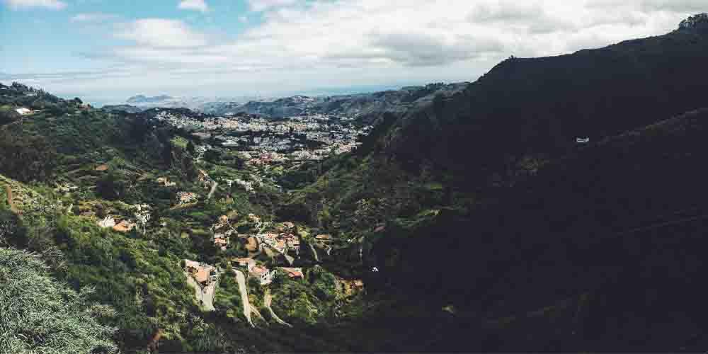 El pueblo de Teror en la isla de Gran Canaria.