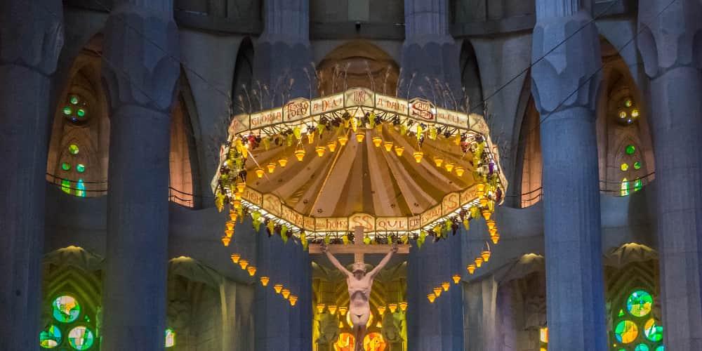 El Cristo es uno de los elementos más importantes de la Sagrada Familia por dentro