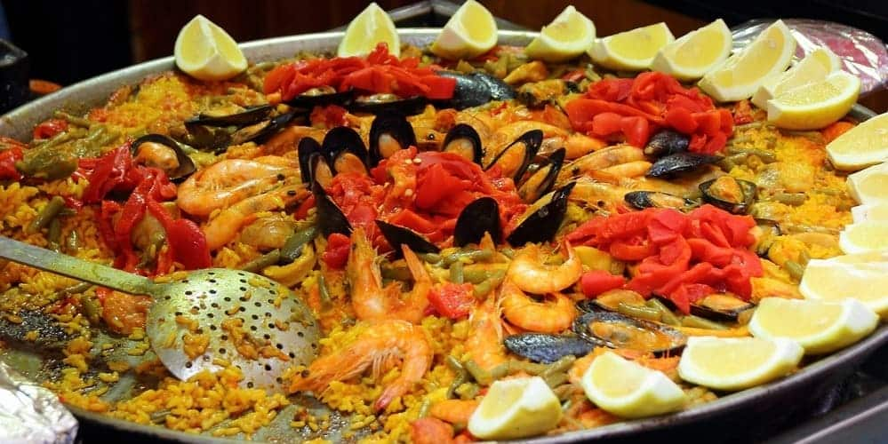 Paella de marisco, delicoso plato en Menorca