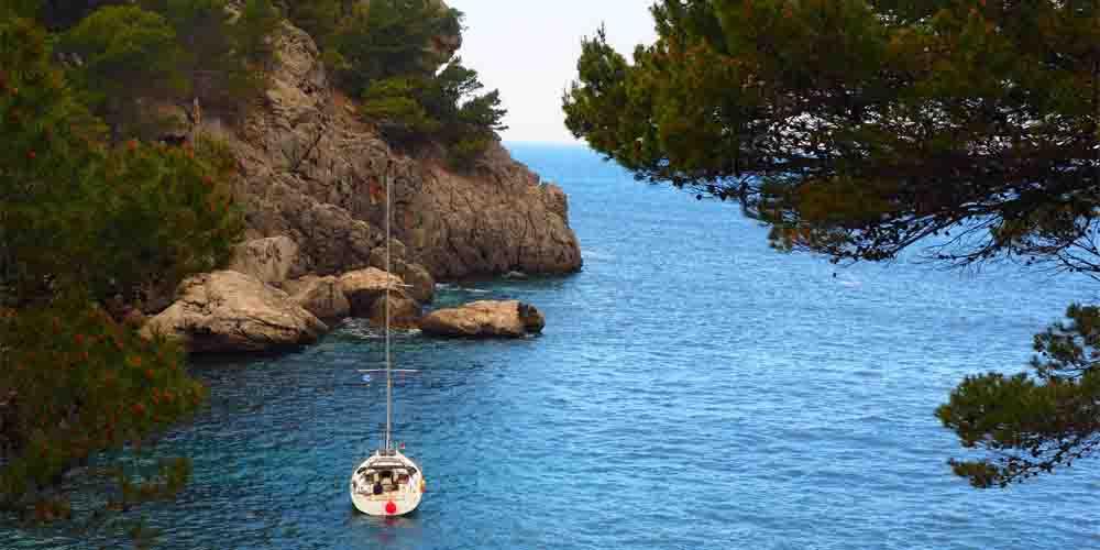 Cala de Sa Calobra en Mallorca.