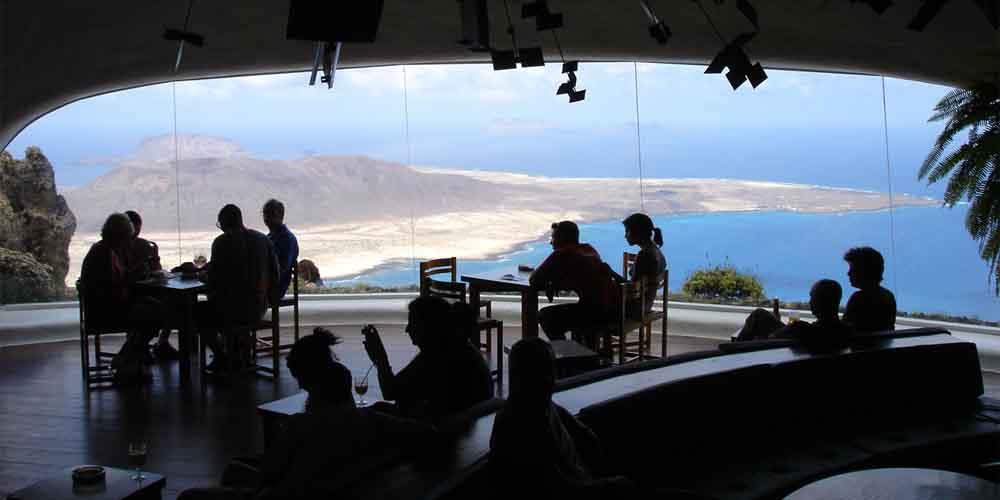 Cafetería-Restaurante del Mirador del Río de Lanzarote.
